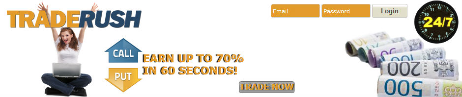 Traderush binary options 60 seconds binary options system that works